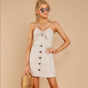 NWT rainbow stripe linen summer dress